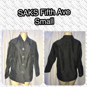Small tie up buttoned SAKS blouse blazer